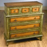 Four Drawer Chest in Distressed Medium Green