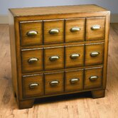"36"" Three Drawer Chest in Distressed Medium Brown"