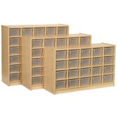 30-Tray Cubbie Unit with Trays