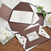 Brown and Ivory Vintage Invitations Kit