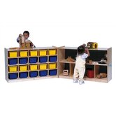 20-Tray Fold and Lock Mobile Storage Unit