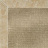Jute Textured Boucle Leather Irish Cream Bordered Rug
