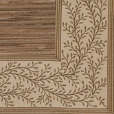 Cheena Dynasty Latte Vine Bordered Rug