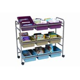 Deluxe Book Browser Cart with Eco Tub