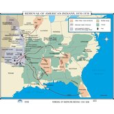 U.S. History Wall Maps - Removal of American Indians
