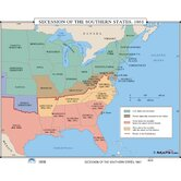 U.S. History Wall Maps - Secession of the Southern States