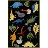 Lil Mo Whimsy Black Dinosaur Kids Rug