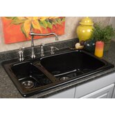 Advantage Barrington Double Bowl Hi-Lo Self Rimming Kitchen Sink