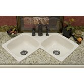 Advantage Harmony Double Bowl Self Rimming Corner Kitchen Sink