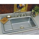 Advantage Greystone Self Rimming Single Bowl Kitchen Sink