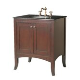"Lynette 30"" Bathroom Vanity Set in Polished Dark Brown"
