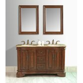 "Moscone 58"" Double Sink Bathroom Vanity"