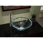 UltraGlass Vessel Sink with Bamboo Design