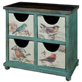 Birds 4 Drawer Chest