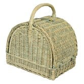 Round Top Floral Picnic Basket