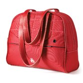 "SUMO 13"" Laptop Purse in Red Leather / Red Nylon"