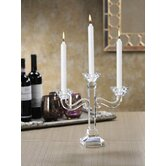 Golden Treasures Three Arm Crystal Candelabra