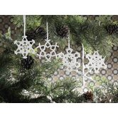 Grand Teton Snowflake Design Porcelain Ornaments (Set of 9)