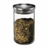 Yohki Glass Storage Jar with Stainless Steel Stackable Lid