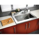 Classic 16 Gauge Worktop Stainless Steel Single Bowl Kitchen Sink