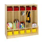 Cubbie Locker With Step Bench in Natural