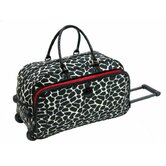 "Jungle 20"" 2-Wheeled Giraffe Carry-On Duffel"