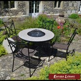 Tudela Fire Pit 4 Seater Dining Set