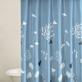 Asian Lily Shower Curtain in Blue