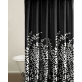 Branches Shower Curtain in Black