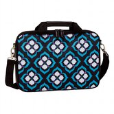 Chloe Dao 15.6&quot;  Lotus Laptop Attache in Black/White/Blue/Purple