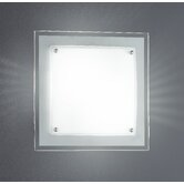 Kanpur Flush Mount with White Glass