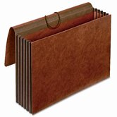 "5 1/4"" Expansion Accordion Wallets, Straight, Redrope, Legal, Red"
