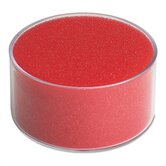 Sponge Cup Envelope Moistener, 3-inch Diameter, Clear/Red