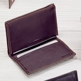 Black Cowhide Nappa Supple Leather Two Fold Business Card Case II