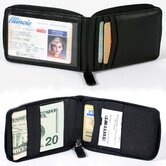 Cowhide Nappa Leather Zippered Wallet