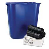 Low-Density Can Liners, 24x23, 35 mil, Black, 150/Carton
