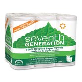 100% Recycled Paper Towel Rolls, 6/Pack