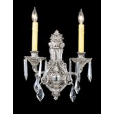 Baronness Two Light Wall Sconce in Polished Silver