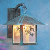 Evergreen Outdoor Wall Lantern with Filigree
