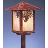 Evergreen 9&quot; Outdoor Post Lantern with Filigree
