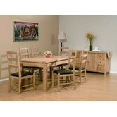 Carlton Extendning Ash  4 Chair Dining Room Set