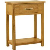 Essentials Small Console Table in Light Oak Stain and Satin Lacquer