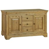 Loire Large Sideboard in Light Oak Stain and Satin Lacquer