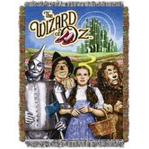 Entertainment Wizard of Oz Group Tapestry Throw