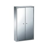 Linea 18.3&quot; x 31.5&quot; Pika Bathroom Storage Cabinet in Stainless Steel