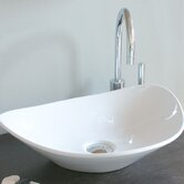 "Ceramica 20.9"" x 15.4"" Vessel Sink in White"