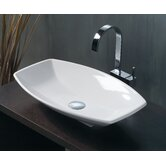 "Ceramica 23.6"" x 15"" Vessel Sink in White"
