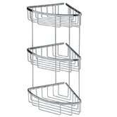 "Filo 7.8"" x 7.8"" Shower Basket Triple in Polished Chromed"