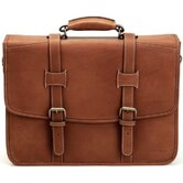 Adventure Litigator Flap Briefcase in Brown