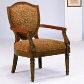 Hand Carved Chenille Arm Chair